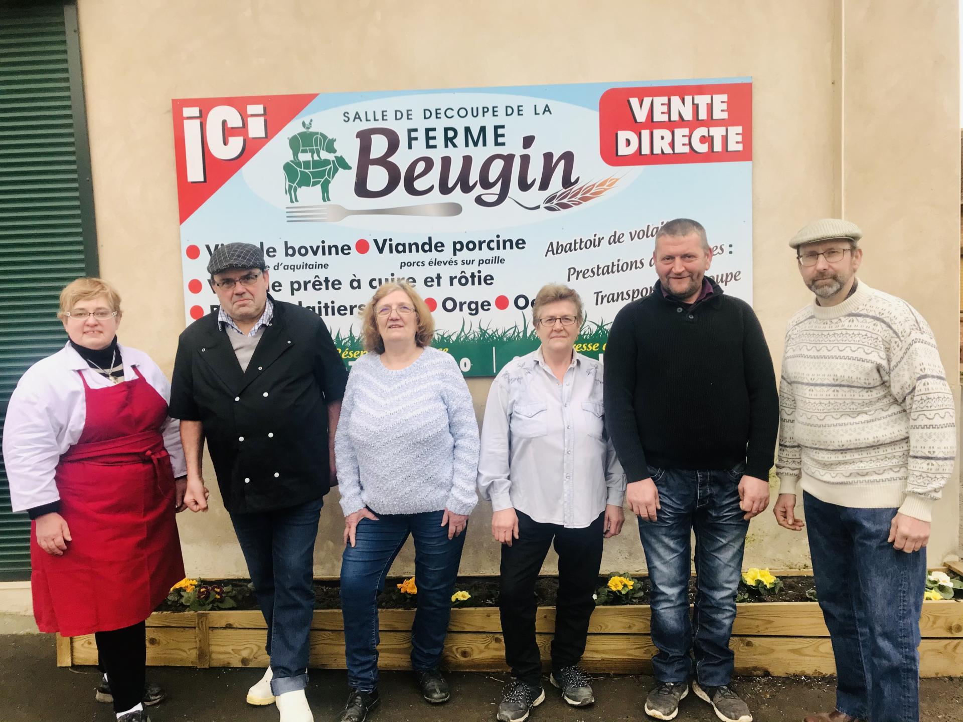 le personnel de la ferme Beugin
